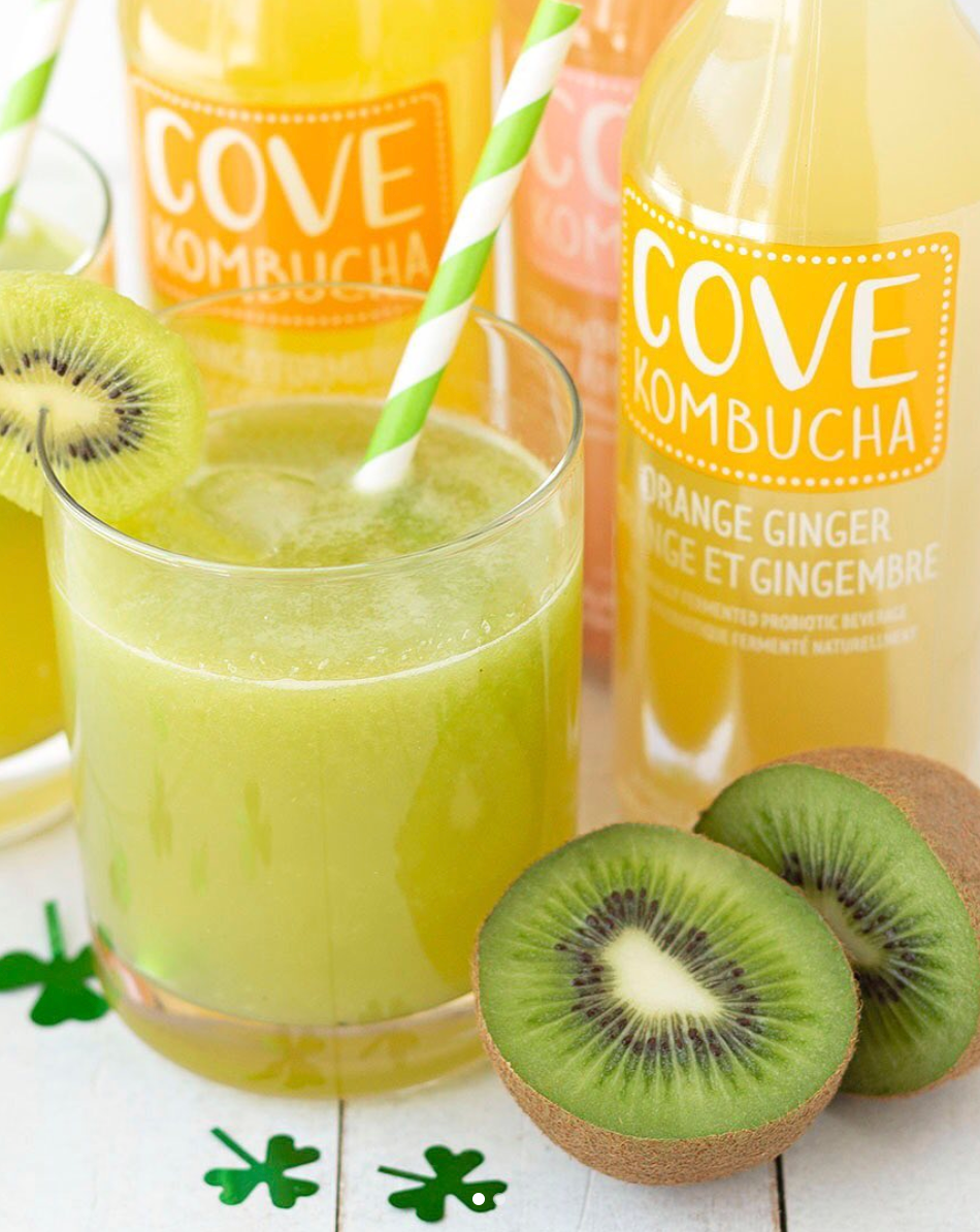 St. Patricks Day Kombucha Mocktail