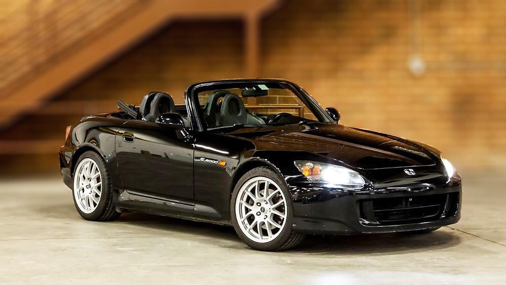 Black Honda S2000