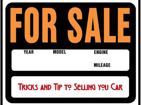 Tricks and Tips to Selling your Car