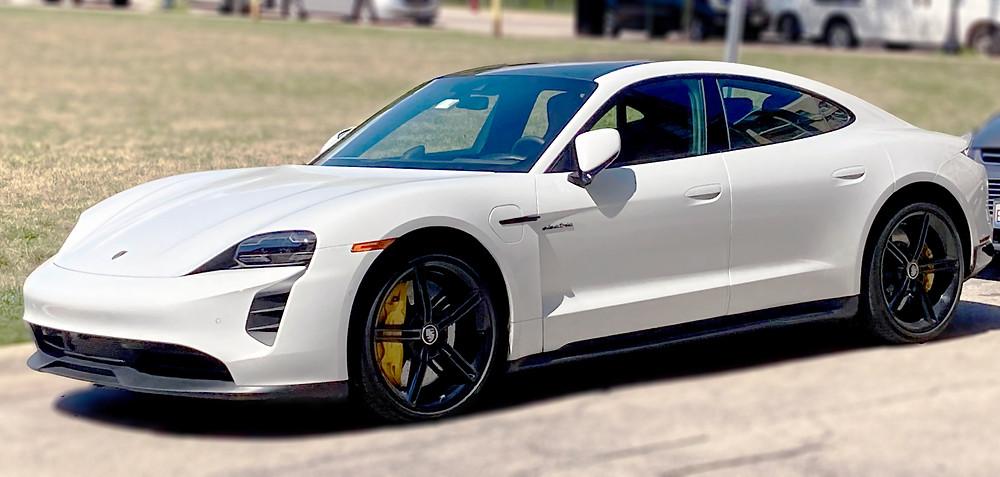 Porsche Taycan S White