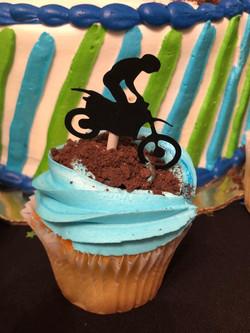 Dirt Bike Cupcake