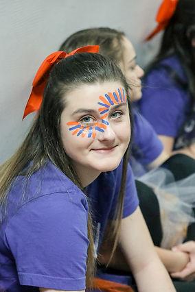 Middle School student showing school spirit.
