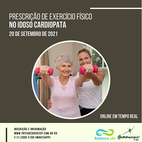 Prescrição de exercício físico no Idoso Cardiopata