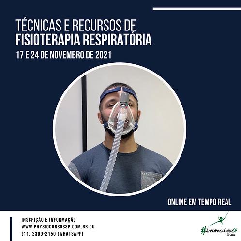 Técnicas e Recursos de Fisioterapia Respiratória