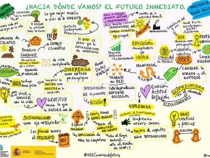 """Síntesis visual del Seminario """"Estrategias educativas hacia la sostenibilidad. Caminos de futuro""""."""