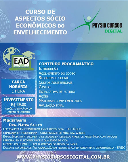 ASPECTOS SOCIO-ECONOMICOS DO ENVELHECIME