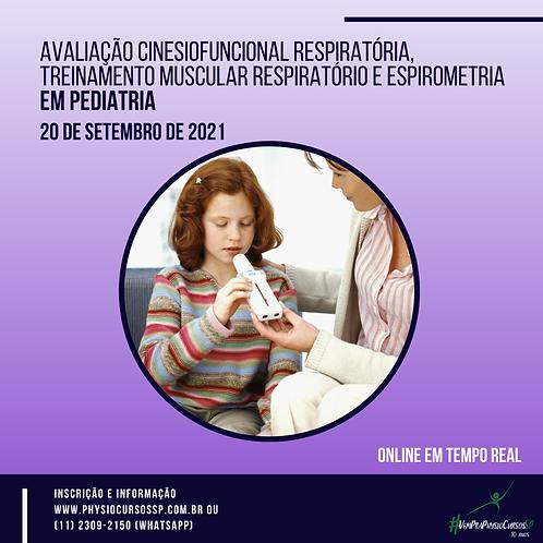Avaliação Cinesiofuncional Respiratória, TMR e Espirometria em Pediatria