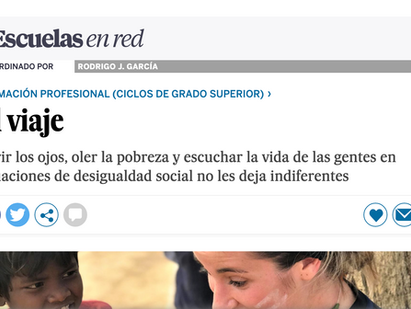 La estancia formativa en India publicada en Escuelas en Red de El País.