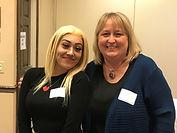 Paula and Perla - 2020 graduates returne