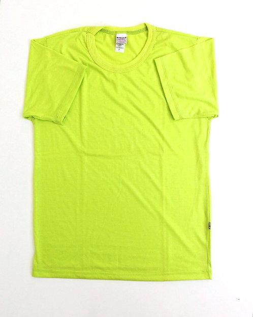 Camiseta cor Verde Fluorescente
