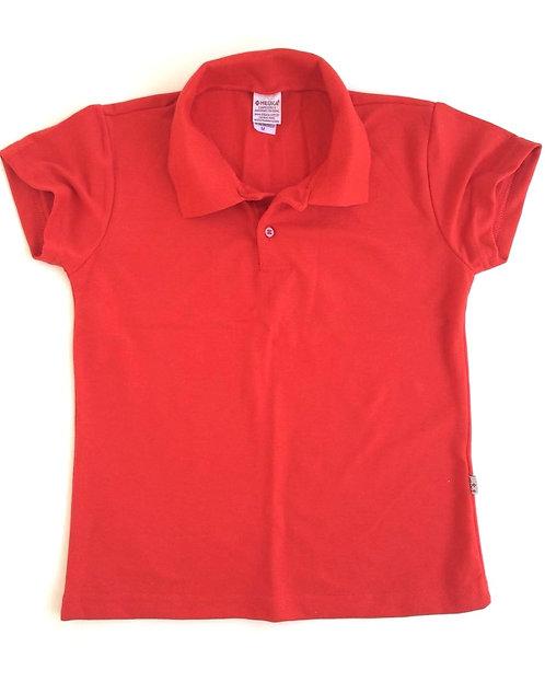 Pólo feminina, cor Vermelha