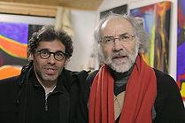 """François Rascal et Bernard Ascal après une lecture publique de """"le gréement des os"""". Une lecture produite par la cie Ouvem'Azulis, ouvem azulis, Orléans."""