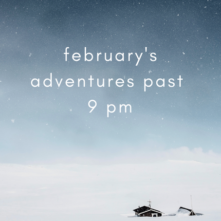 February Adventures Past 9 PM