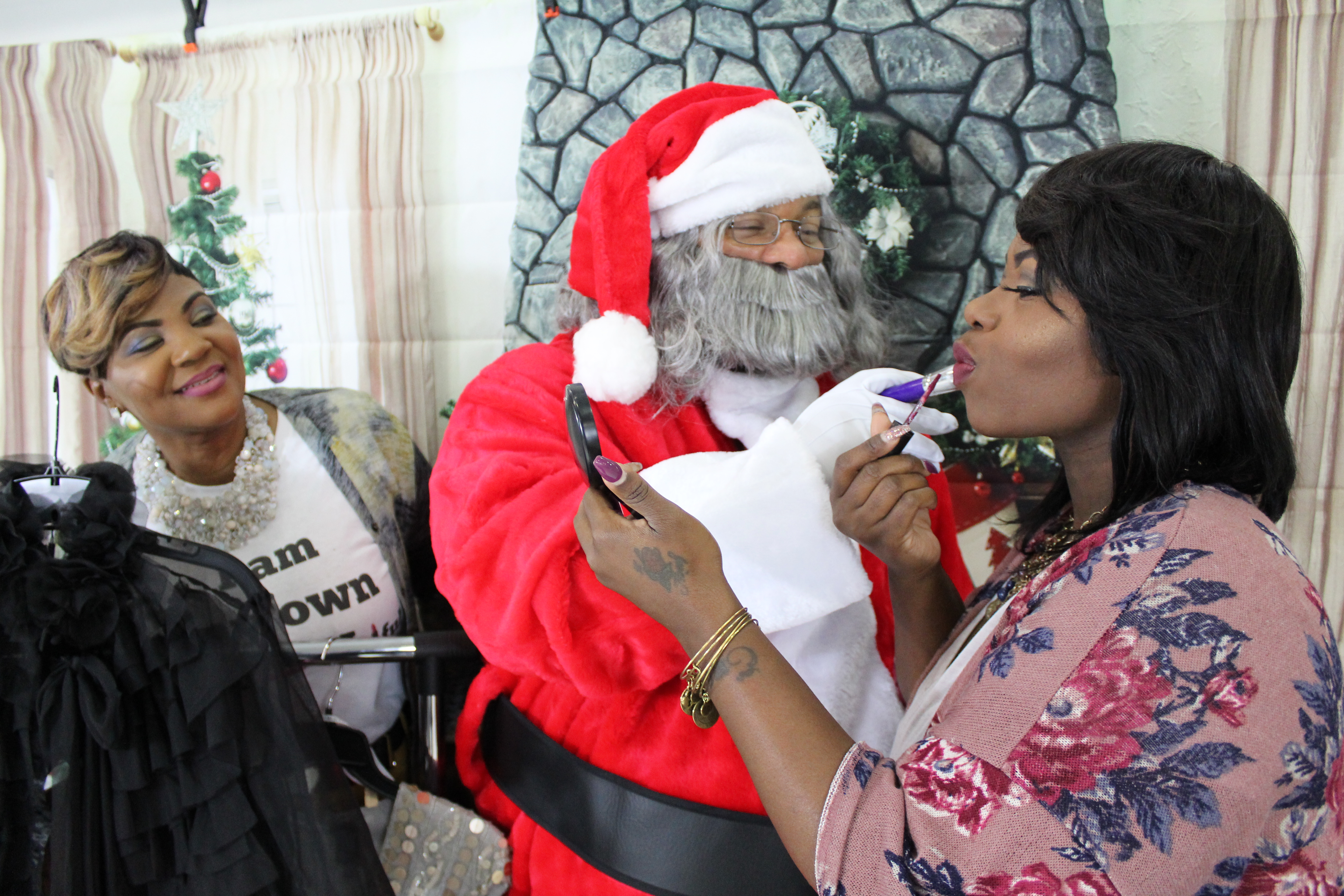 Denise, Santa, and Shimaka