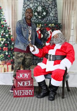 Gene Dot and Santa