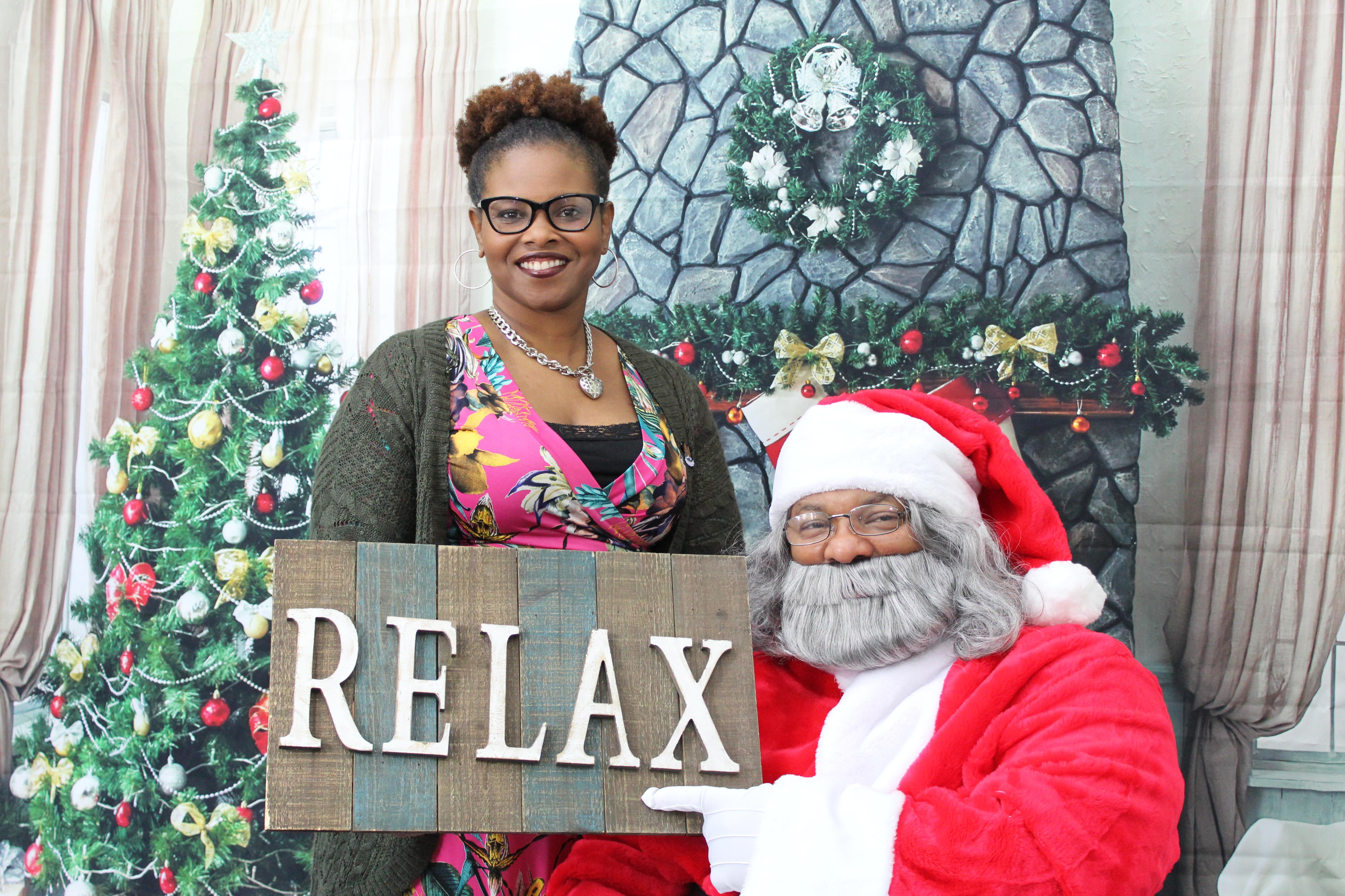 Kenisha and Santa