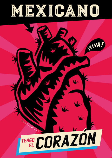 MEXICAN HEART POSTER
