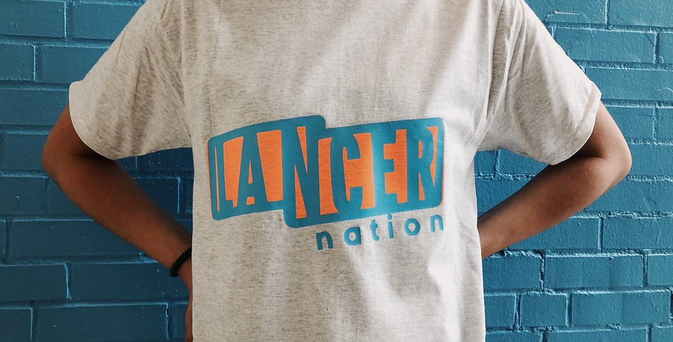 Blue and Orange Lancer Banner Shirt