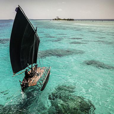 Traditional sail boat - Papua New Guinea