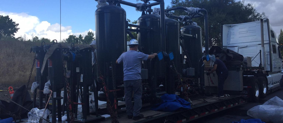 CDA Systems safely delivered two 1600 SCFM SPX Blower purge dryers to a Silicon Valley Client