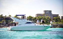 yacht tulum wedding