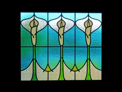 'CALLA LILY' WINDOW PANEL