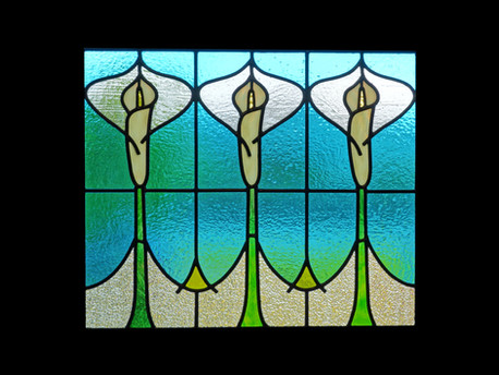 'CALLA LILY' WINDOW PANEL