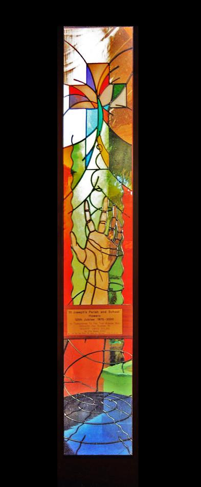 'ST. JOSEPHS CHURCH' WINDOW PANELS