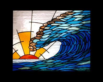 'WAVE SUNSET' WINDOW PANEL