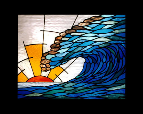 'WAVE SUNSET' WINDOW PANEL