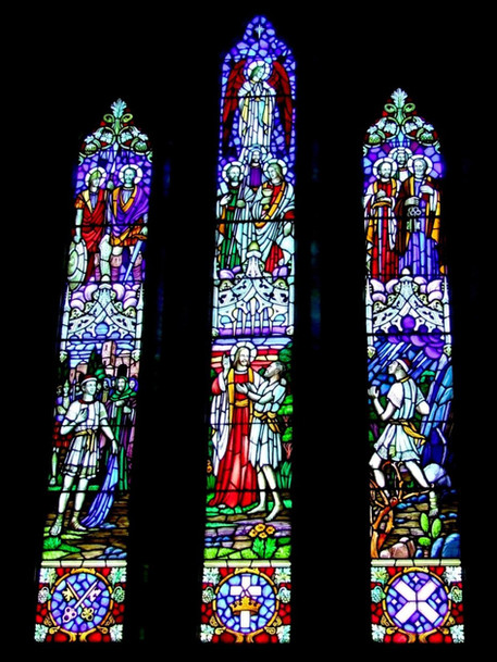 'ST. ANDREWS CHURCH' WINDOW PANELS