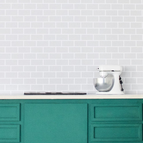 Subway Tile (Gray with White Grout)