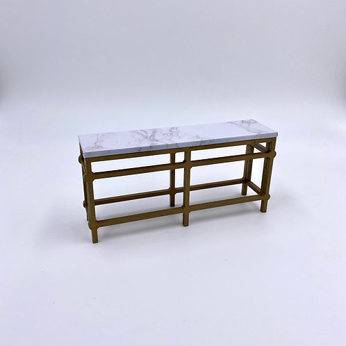 Gold & Marble Console Table