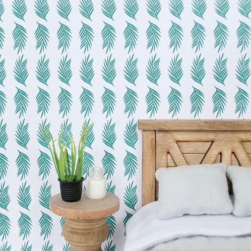 Green Palm Leaf Wallpaper