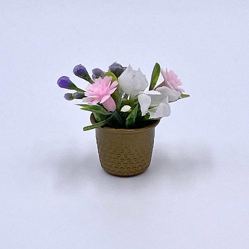 Gold Flower Pot