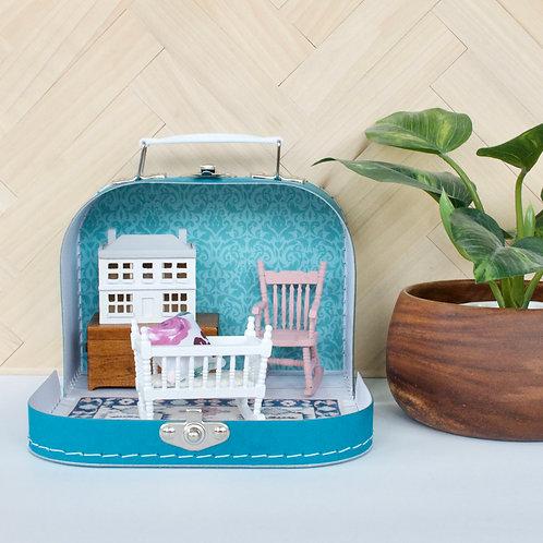 Damask Nursery Travel Dollhouse