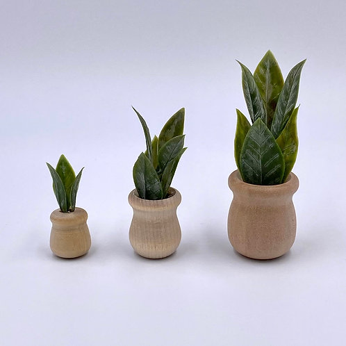 Wooden Potted Plant