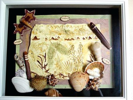 Natural Impressions Ceramic Shadow Box Collage Ideas