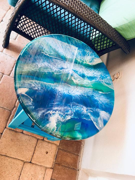 Outdoor Ocean Resin Table Top