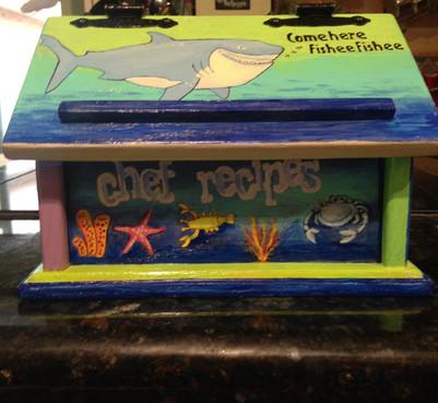 Recipe Box Cricut Stencil