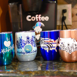 4 Iron On Stainless Wine Cups Projects