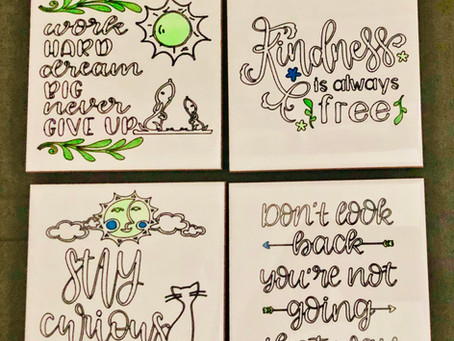 Inspirational Quotes Coasters with Cricut Infusible Ink & 3rd Party Blanks with Sublimation Tiles