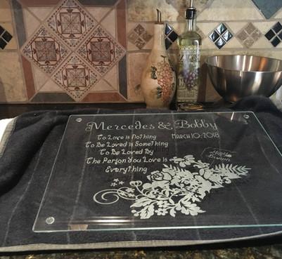 Glass Etching Wedding Gift