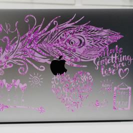 MacBook Pro 13 in Cricut Peacock Feather