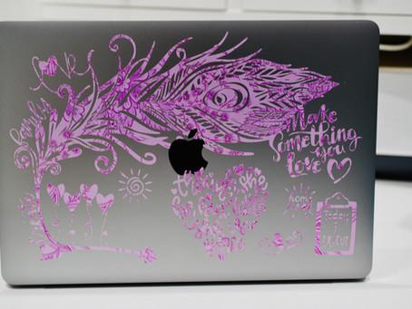 DIY Laptop Skins with Vinyl & Cricut