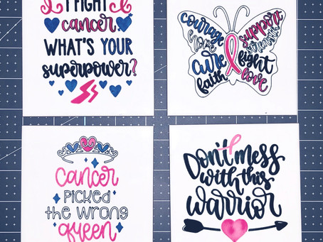 Breast Cancer Coasters with Cricut Infusible Ink & 3rd Party Sublimation Tiles Project!