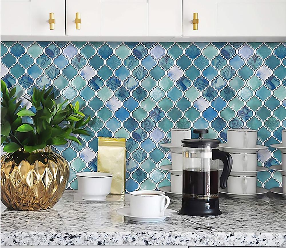 Peel N Stick tile easy redecorating