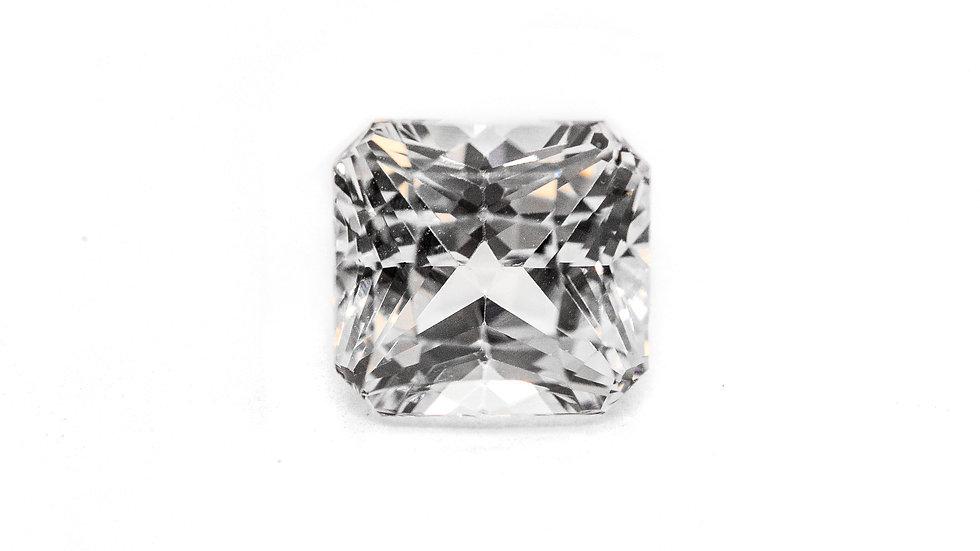 White Sapphire | RU917E  | 7.9 x7.35 radiant | 3.47CT | 1300K/CT