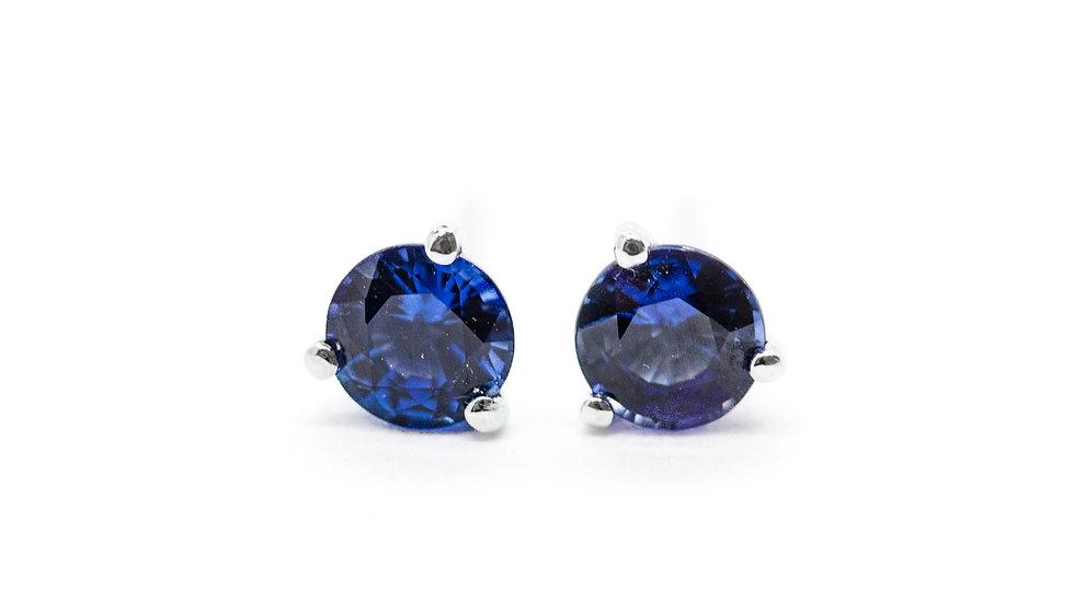 Ceylon Sapphire w/DIA Studs | SE45 | .89ct dia w/.11 ct | 800K