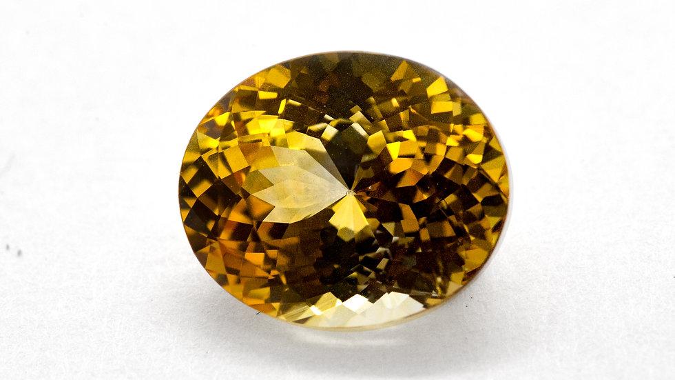 Yellow Sapphire  | NS1204-E | 10.8 x 8.9 cush. | 4.10CT | 900K/CT
